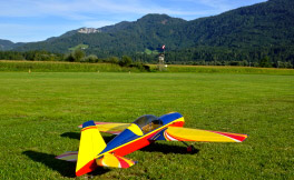 Model Aircraft at airfield Glocknerhof