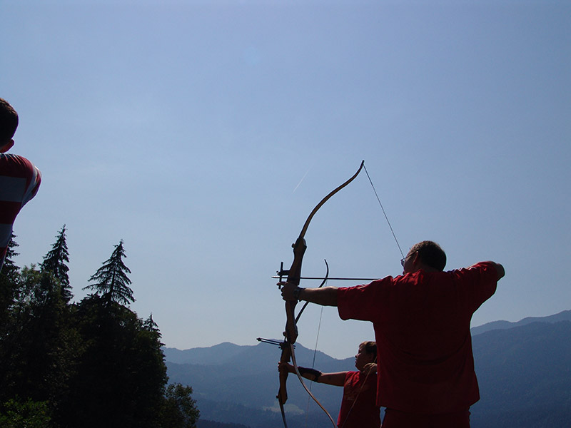 Recurve at the Hotel archery range