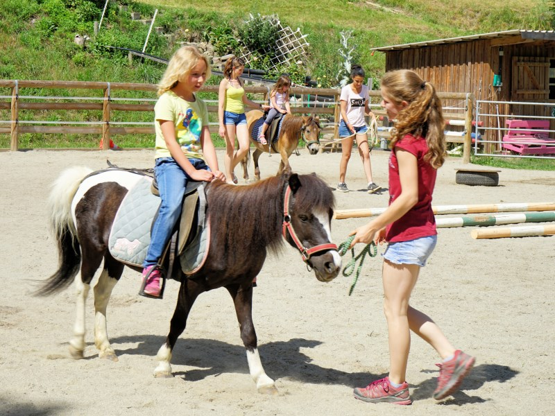 Pony riding at Ebnerbichl