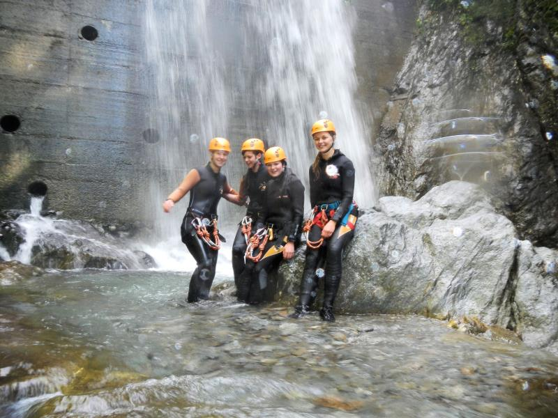 Canyoning with guide